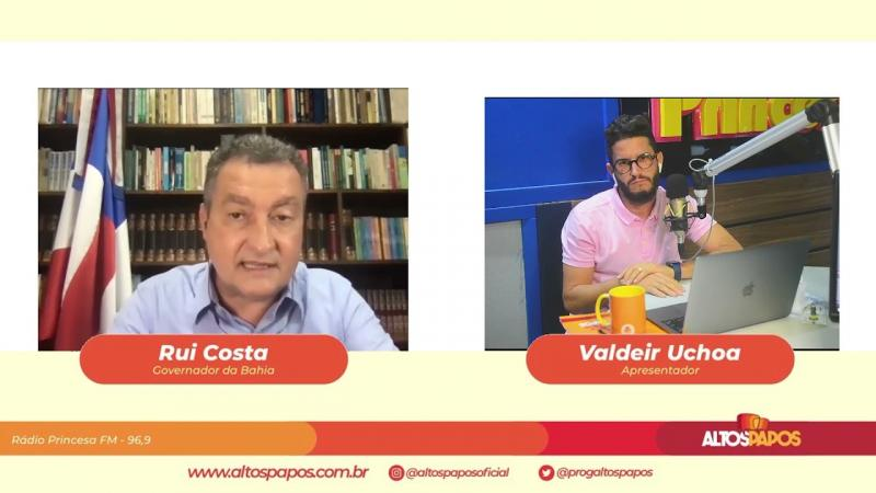 Governador Rui Costa fala para Feira de Santana e pool de emissoras do interior baiano - Altos Papos